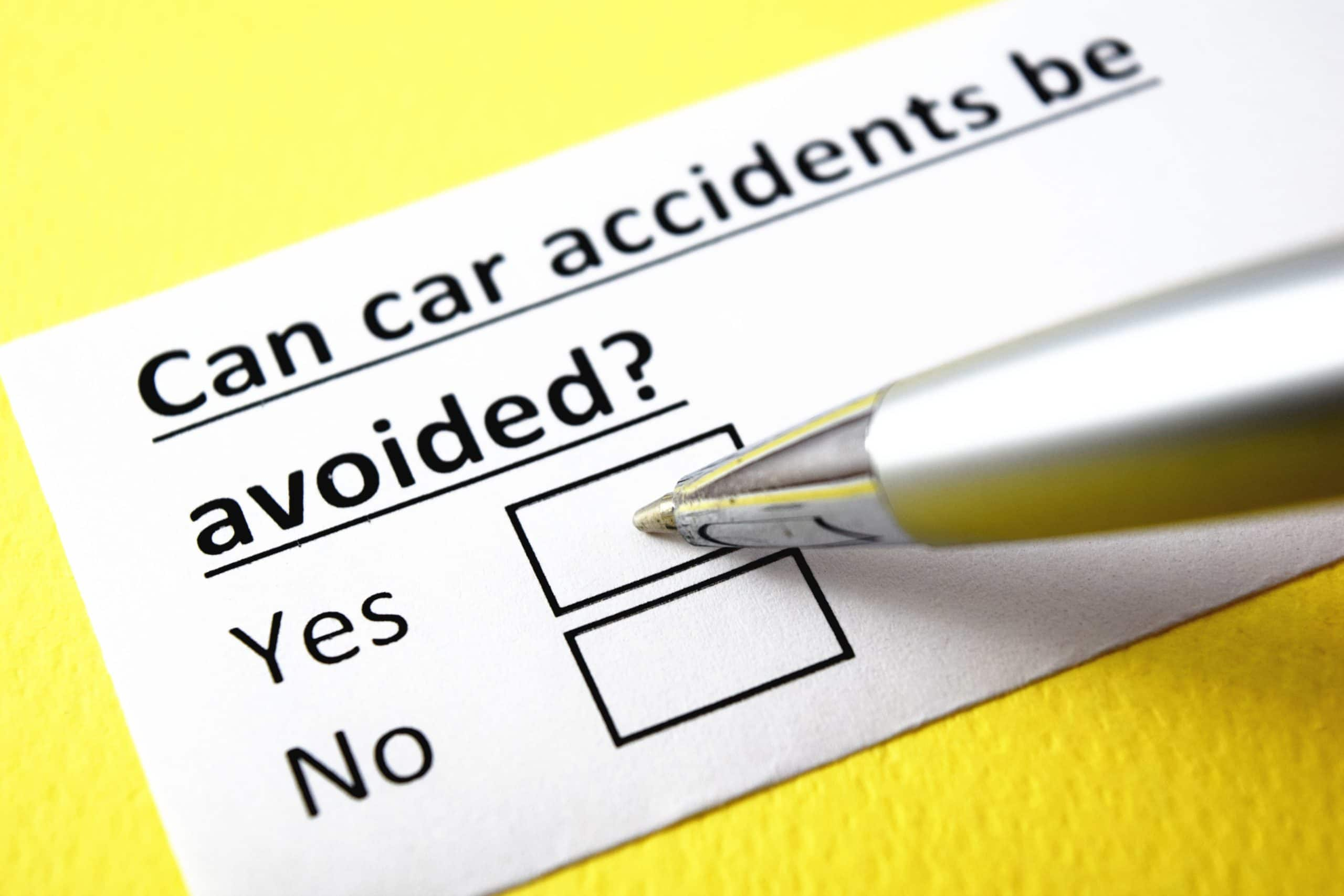 can you avoid a car accident?