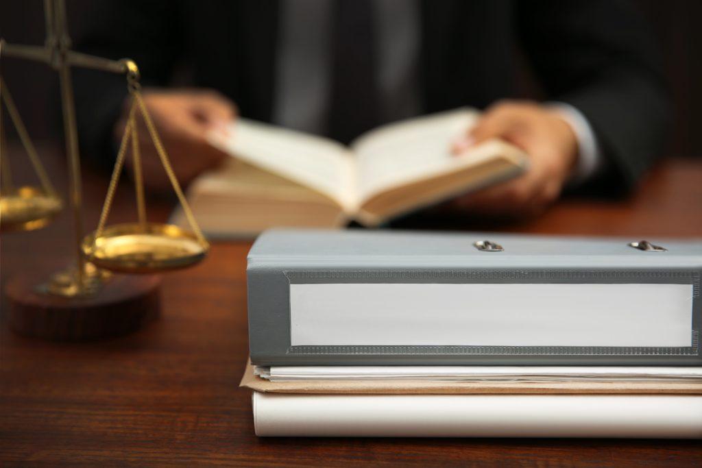 lawyer filing a lawsuit